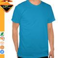personalizado em torno do pescoço sem etiqueta em branco camisetas para homens