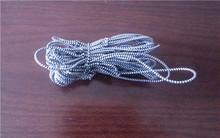 silver spiral elastic cord/elastic cord spool/coiled elastic cord,shiny metallic elastic cord