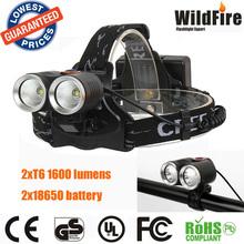 waterproof bicycle light 2xCREE XML T6 1600 lumens UPPLADDNINGSBAR PANNLAMPA