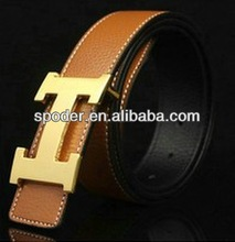 New Faux Solid Buckle Unisex pu Belt men high quality