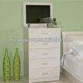 Hx140113-mz451 do lado da cama de bordo branca caixa de gaveta com espelho