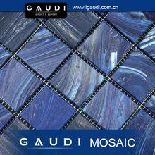 50x50mm blue bisazza golden line glass pool mosaic tile