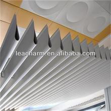 Interior screen ceiling, restaurant/ coffe house decorative curtain Ceiling , aluminum baffle ceiling. slat ceiling tile