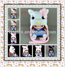 beanie cat ears crochet baby costume knitting pattern animal earflap