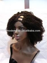 New beautiful short kinky curly u part wigs