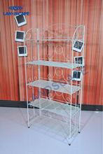 Popular five layers folding metal wire basket shoe display shelf