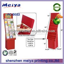 Corrugated cardboard pallet display stand,cardboard stands paper pallet custom pop display,floor display