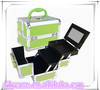 2014 carry-on combination aluminum large makeup organizer professional beauty case with plastic trays