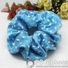 Fashion elastic blue ribbon hair
