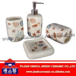 Home decoration ceramic bath set accessories