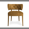 Wholesale upholstered flax vintage french script fabric chair K-C11