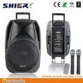 Shier AK15-306 15 polegada baterias portáteis sem fio amplificador de potência de áudio