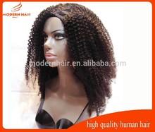 mongolian kinky curly hair u part wigs for black women
