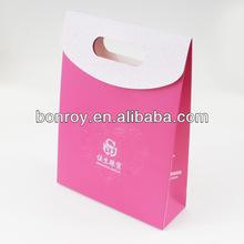 Beautiful Pink jewelry paper bag without handles