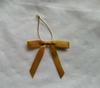 gold gift wrapping elastic band bow,ribbon bow/christmas tartan bow/christmas ribbon bow/wire edged ribbon bow