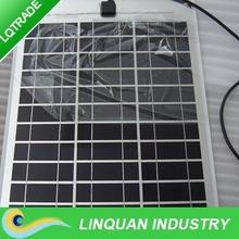 80W monocrystal silicon semi flexible solar panel for boat industry