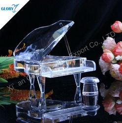 Blank Grand Piano Shaped Crystal Music Novelty Gifts