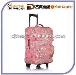 Hot sale trolley travel bags for girls