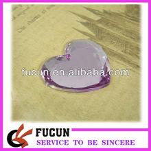 flat back heart shape acrylic gem