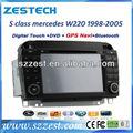 zestech precio de fábrica del coche reproductor de radio para mercedes benz w210 w220 coche reproductor de dvd con la navegación gps