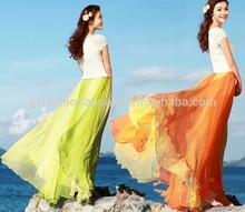 Belle motif mode femmes jupe longue musulman