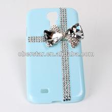 shiny diamond bowknot hard back phone case rhinestone cover for Samsung Galaxy S4 i9500