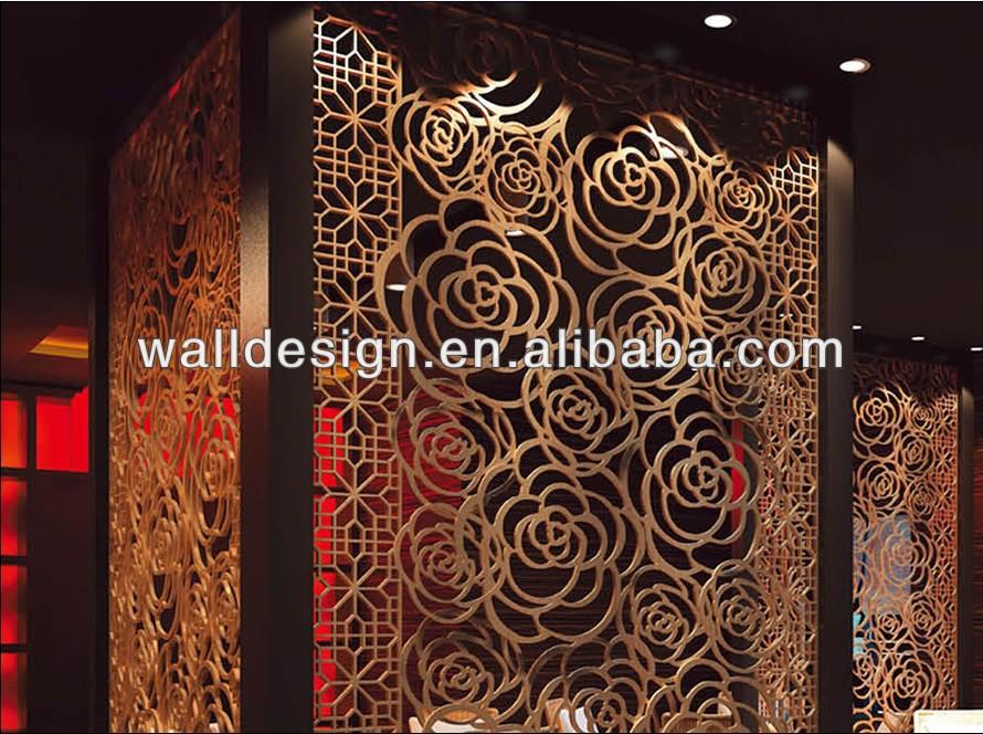 pannelli divisori 3d : Alluminio metallo 3d pannelli decorativi griglia, rosa