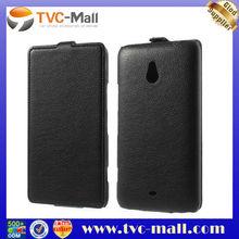 Black Litchi Grain Vertical Leather Flip Case for Nokia Lumia 1320