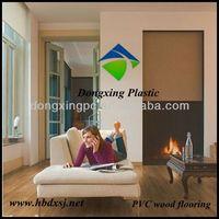 indoor decoration PVC wood flooring roll,manufacturer