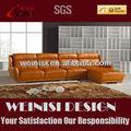de canto de couro sofa grupo design confortável de couro sofá de canto chaise h1067