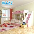 Ikazz mdf enfrentado melamina foshan beliches rosa para as meninas quarto 212- 01#