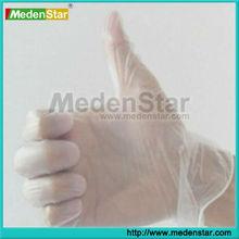 Clear & blue disposable powder Vinyl dental gloves/medical gloves STPC240