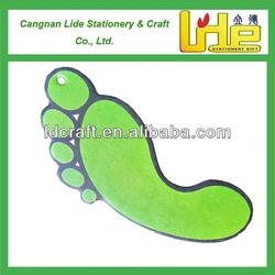 Promotional Footprint Shaped make hanging paper car air freshener/footprint car air fresheners