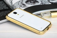 Luxury Crystal Bumper Case for Samsung Galaxy S4 I9500/High Quaity Bumper Case Cover Factory Price
