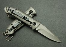 Hot selling OEM stainless steel Butterfly folding knife with steel handle UDTEK01815