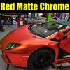 New Styling 1.52x20m Auto Sticker Vinyl Decal Rolls Matte Chrome Red/red Vinyl Film