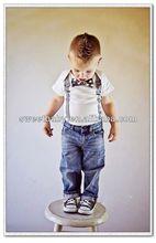 Boys Clothing Sets Bow Tie Tshirt & Jeans Kid Child Clothes 5sets/lot LT43062