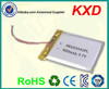 3.7v 900mah li-ion battery 653442pl with pcb and wires
