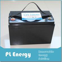 lithium battery ebike e-car scooter 12v 100ah lifepo4