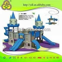 Outdoor playgroud kids plastic tube slide castle slide children slide