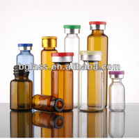 different size clear amber glass vial siliconized