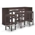 2014 poli rattan bar mobilya palermo bar- yüksekliği oturma bar ve ayarlamak tabureler
