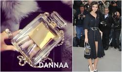 2014 paris perfume bottle evening clutch fashion sling bag