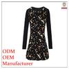 shenzhen OEM High fashion Direct manufacturer designer long sleeve elegant ladies royal design office wear dress