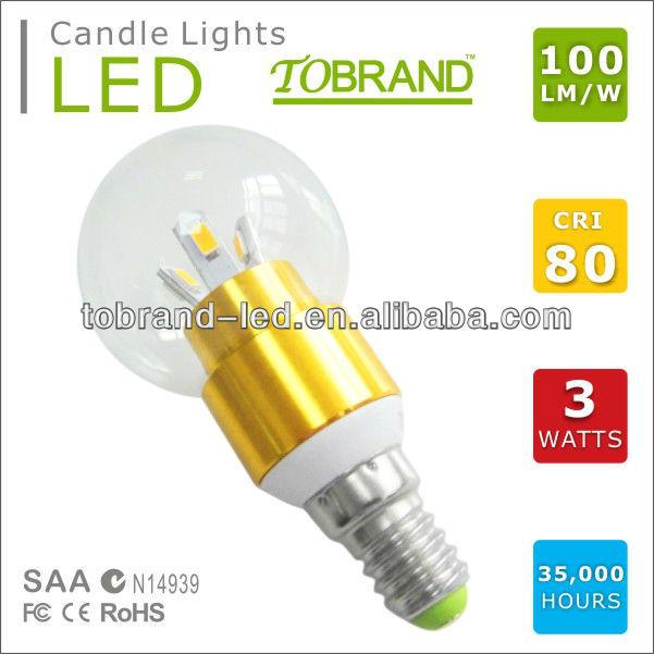 e27 3w e27 e14 led candle lights dimmable china