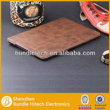 For iPad 5 real leather Case,new for iPad air PU Case
