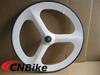 100% Full carbon Tri-spoke wheels/carbon 70mm tubular wheels in white color