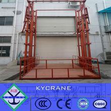 electric hydraulic guide rail wall mounted lift