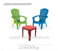 Plastic Sea Chair ( WOW & Ohio Table )