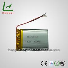 New power bank digital camera 3.7v 1300mah li-ion battery pack